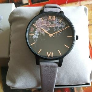 Olivia Burton Lilac Black Floral Women's watch